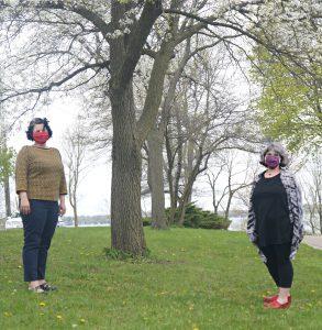 Co-directors Sarah and Jill with Masks