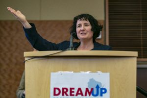 Sarah Davis speaking at DREAMUP
