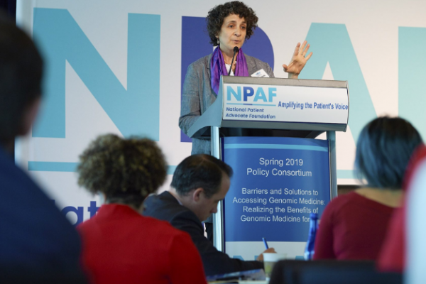 Rachel Grob speaks at the National Patient Advocacy Foundation