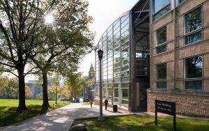 Wisconsin law school building on Bascom Hill
