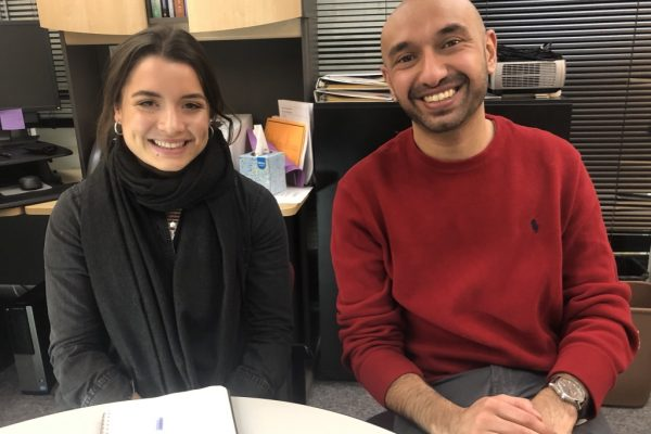 Law Student Monica Delgado and Sachin Gupte